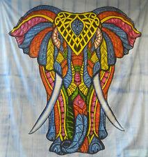 Colcha elefante africano multicolor tie dye algodón manta India cortina decorar