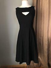 Bettie Page Tatyana Flare Sleeveless Dress Size M Medium Mod Retro
