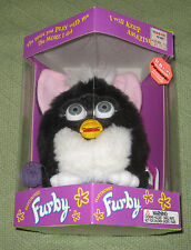 FURBY Black & White Tux with Grey Eyes Original 1998 Tiger Electronics NEW