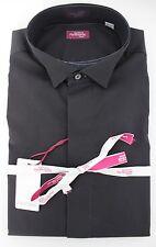 NWT 330$ SARTORIA PARTENOPEA DRESS SHIRT full handmade Tuxedo black 41 16
