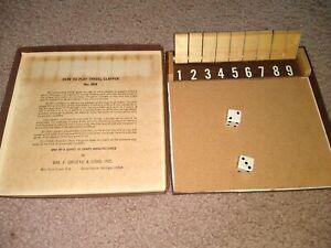 "Drueke Travel Clapper No. 559 Complete Board Game aka ""Shut the Box"" Vintage"