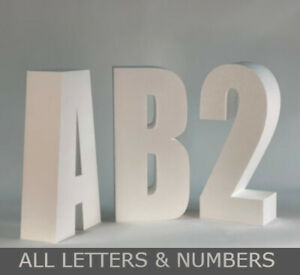 3D Polystyrene Lettering **ALL LETTERS & NUMBERS** 300mm High Quality UK Seller
