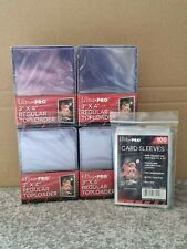 More details for ultra pro top loaders and card sleeves combo 100 cards sleeves & 100 toploaders