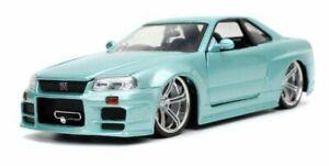 FAST & FURIOUS 1:24 Jada NISSAN SKYLINE GT-R R34 Brian's Paul Walker car 32608