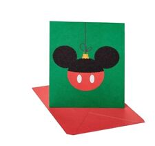 Papyrus Christmas Cards Boxed, Disney Mickey Mouse Holiday Ornament 20-Count NEW
