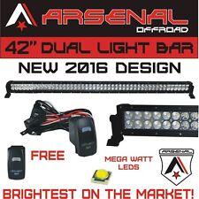 #1 2016 42 inch 240W MEGA WATT LED Light Bar by Arsenal Offroad TM spot flood co