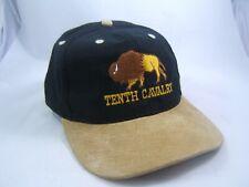 Tenth Cavalry Buffalo Hat Black Tan Strapback Baseball Cap