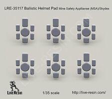 Live Resin LRE35117 1/35 Ballistic Helmet Pad Mine Safety Appliances MSA/Skydex