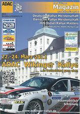 ADAC WIKINGER Rallye 2012 Programmheft DIN A 4 + Teilnehmerliste  ++NEU++