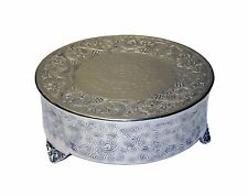 GiftBay Creations 743-12R Wedding Round Cake Stand, 12-Inch, Silver, New