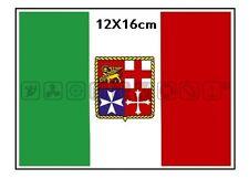 BANDIERA ADESIVA ITALIA 12X16cm PER NAUTICA DA DIPORTO BARCA SCAFO LOTTO DA 2PZ