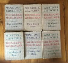 1st Edition winston churchill The Second World War 6 Vol Cassell Hardback
