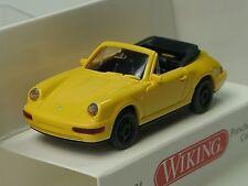 Wiking Porsche 911 CARRERA Cabrio, giallo - 0165 04 - 1:87