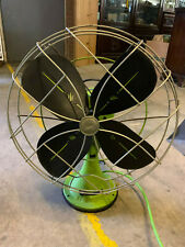 Vintage Antique Emerson Electric Cast Iron Neon Green Painted Fan Metal Blades