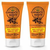 Nature's Spirit Strengthening Argan Oil Shampoo 2.5 oz+Conditioner 12.oz