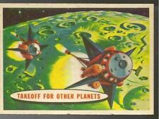 A&BC GUM SPACE CARDS 1959 A.& B.C GUM ARTWORK CARD # 69 TAKEOFF FOR OTHER PLANET