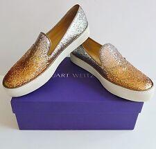 Stuart Weitzman NIB Biarritz Glitter Skate Sneakers Size 8.5B Retail $345