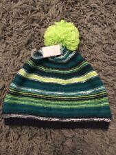 BNWT NEXT BABY BOYS STRIPE GREEN POM POM JUNGLE HAT 1.5-2 18-24