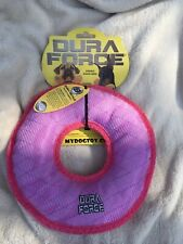 DuraForce Dog Toy Donut Purple Pink Squeaks Floats Washable NEW Extremely Strong