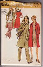 """9632 SIMPLICITY c.1971 - COAT DRESS PANTS - Sz 20.5 B 43"""""""