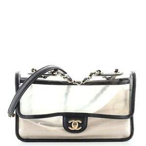 Chanel Sand By The Sea Flap Bag PVC with Lambskin Medium