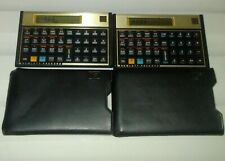 HP 12C Financial Calculators Black Gold with Leather Case ( Batteries Installed)