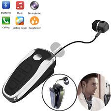 Retractable Bluetooth Headset Wireless Stereo Earpiece for Moto E5 E7 Play G7 LG