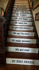 En esta Casa Pasillo Escalera Pared Arte Vinilo Calcomanía Adhesivo Decoración Hogar Familiar