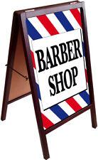Barber Shop A Frame Sign Sidewalk Pavement Sign Double Sided 172875