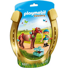 PLAYMOBIL  Country Groomer with Butterfly Pony 6971 (BRAND NEW)