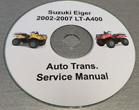 2002-2007 Suzuki Eiger 400 Service Repair manual on CD FREE SHIPPING