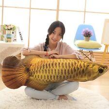 big plush fish toy stuffed gold Arowana design pillow gift about 120cm