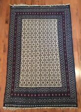 Vintage Distressed Hand Knotted Woven Wool Rug 51� X 80�
