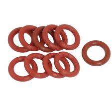 H3 10 x Ziegelrot Rohrdaempfer Silikon O-Ring Dichtung 12 x 19 x 3.5 mm