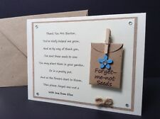 Personalised Thank You Card. Teacher Nursery School Childminder Forget-me-not