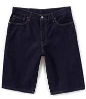 Levi's 569 Loose Straight Dark Blue Denim Shorts 355690143 Msrp $45