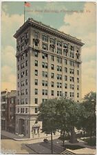 1913 CLARKSBURG West Virginia W VA Postcard UNION BANK BUILDING