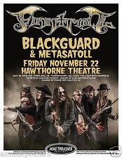FINNTROLL/BLACKGUARD/METASATOLL 2013 PORTLAND CONCERT TOUR POSTER - Metal Music