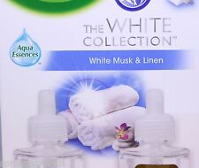 8 Air Wick Scented Oil Refills WHITE MUSK & LINEN White Collection Airwick