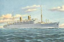 Vintage Postcard - M.S. Italia - Home Lines - Excellent