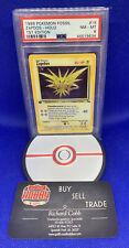 Pokémon PSA 8 1st Edition Zapdos Holo Fossil NM-Mint WoTC