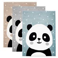 Kinderteppich Kurzflor Spielteppich Teppich Kinderzimmer Flachflor mit Panda-Bär