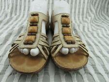 Clarks Artisan Jeweled Tan / Gold Slingback Sandals Women's Size 9.5 M ~ 64116