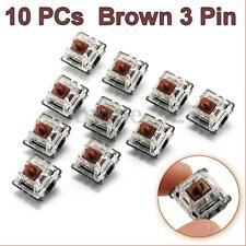 10pcs Brown 3 Pin Mechanical Switch Keyboard Replacement for Gateron RGB Series