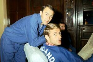 RETRO 1966 ENGLAND WORLD CUP UMBRO BLUE TRAINING TOP * sz S *