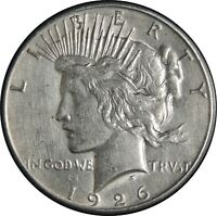 1926-S $1 PEACE SILVER DOLLAR XF DETAILS  CLEANED / CULL CONDITION   041421046