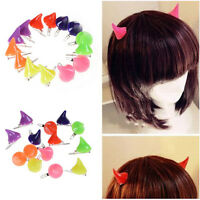 Girl Halloween Stereo Devil Horns Ears Hairpins Barrettes Hair Head Bands Clip B