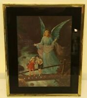 Guardian Angel Protecting Children Foot Bridge Nursery Room Appalachia Art Print