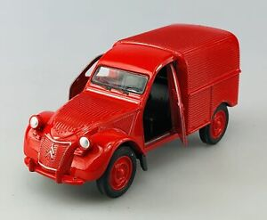WELLY CITROEN 2CV FOURGONNETTE RED OLD TIMER 1:34 DIE CAST METAL NEW IN BOX