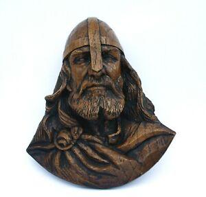 Viking Warrior Head Reproduction Norse Carving Ornament Ragnar Scandinavian Gift